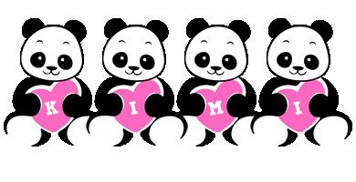 Kimi love-panda logo