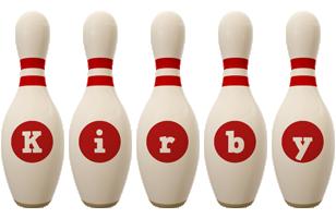 Kirby bowling-pin logo
