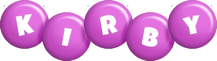 Kirby candy-purple logo