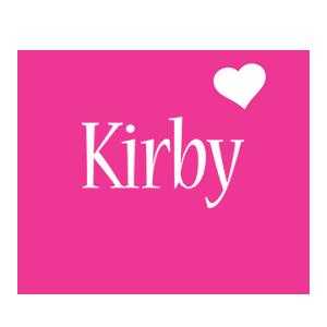 Kirby love-heart logo
