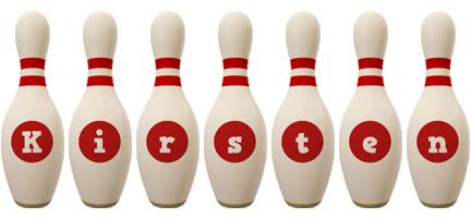 Kirsten bowling-pin logo