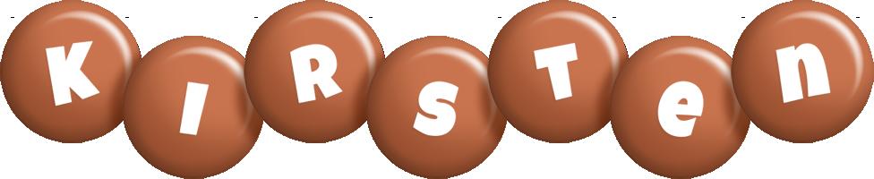 Kirsten candy-brown logo