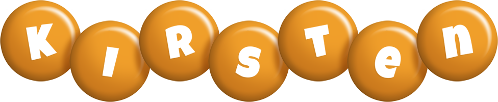 Kirsten candy-orange logo