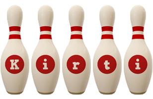 Kirti bowling-pin logo