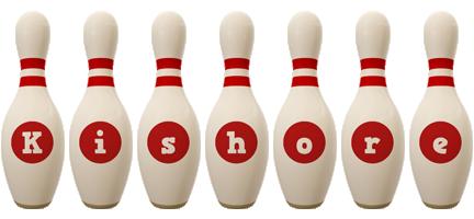 Kishore bowling-pin logo