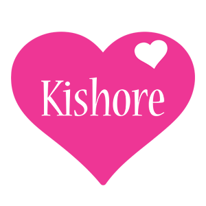 Kishore love-heart logo