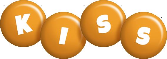 Kiss candy-orange logo