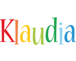 Klaudia birthday logo