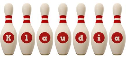 Klaudia bowling-pin logo