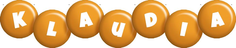 Klaudia candy-orange logo