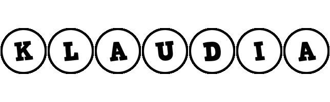 Klaudia handy logo