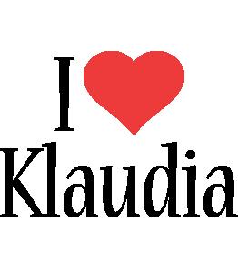 Klaudia i-love logo