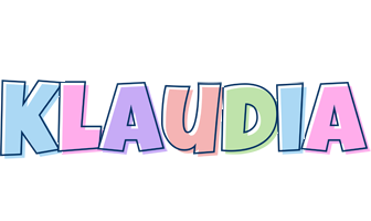 Klaudia pastel logo