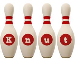 Knut bowling-pin logo