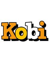 Kobi cartoon logo