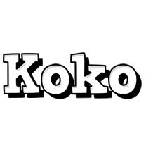 Koko snowing logo
