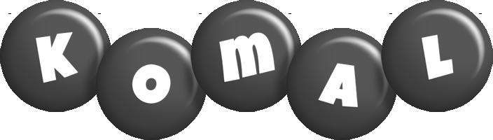 Komal candy-black logo