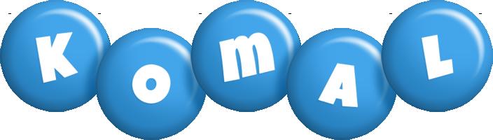 Komal candy-blue logo