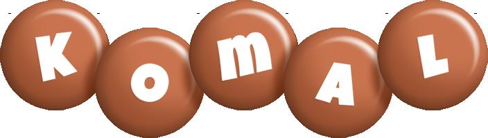 Komal candy-brown logo