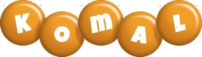 Komal candy-orange logo