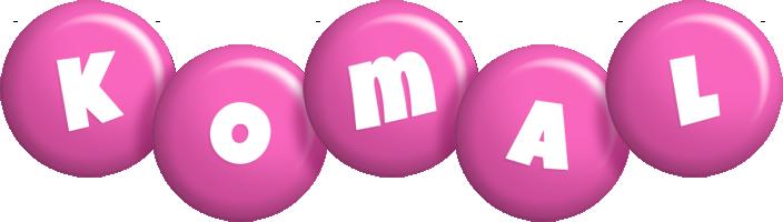 Komal candy-pink logo