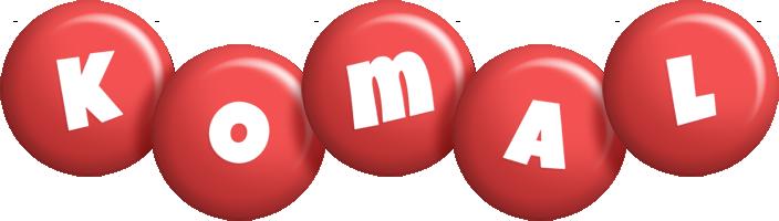 Komal candy-red logo