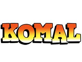 Komal sunset logo