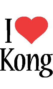 Kong i-love logo