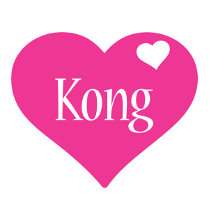 Kong love-heart logo