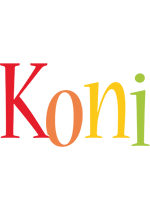 Koni birthday logo