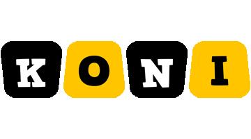 Koni boots logo