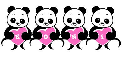 Koni love-panda logo