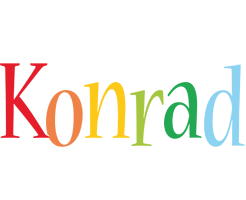 Konrad birthday logo