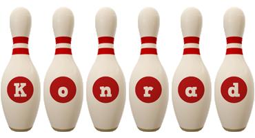 Konrad bowling-pin logo