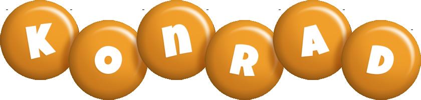 Konrad candy-orange logo