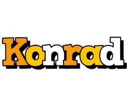 Konrad cartoon logo