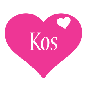 Kos love-heart logo