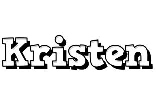 Kristen snowing logo