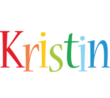 Kristin birthday logo