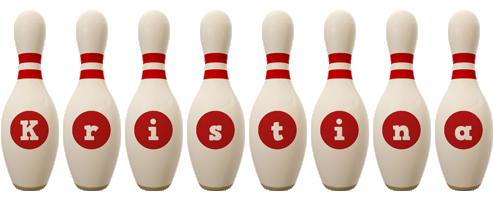 Kristina bowling-pin logo