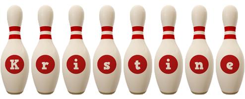 Kristine bowling-pin logo