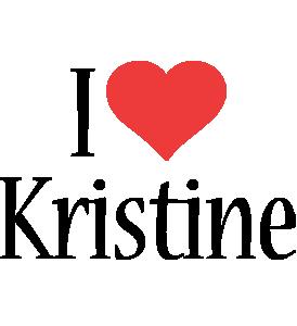 Kristine i-love logo