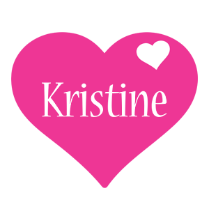 Kristine love-heart logo