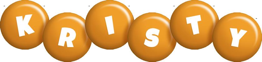 Kristy candy-orange logo