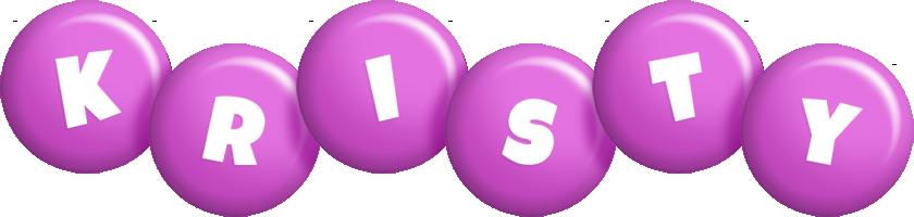 Kristy candy-purple logo