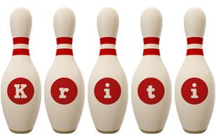 Kriti bowling-pin logo