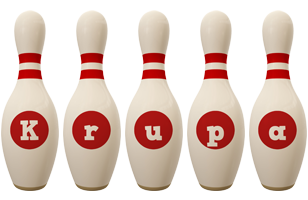 Krupa bowling-pin logo
