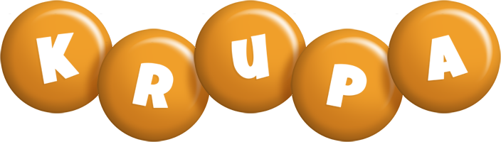 Krupa candy-orange logo