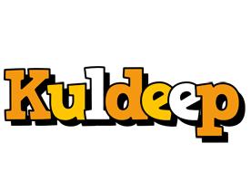 Kuldeep cartoon logo