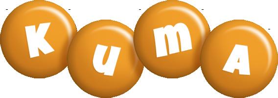 Kuma candy-orange logo